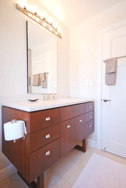 Chevy Chase, MD. Whole House Remodel contemporary-bathroom