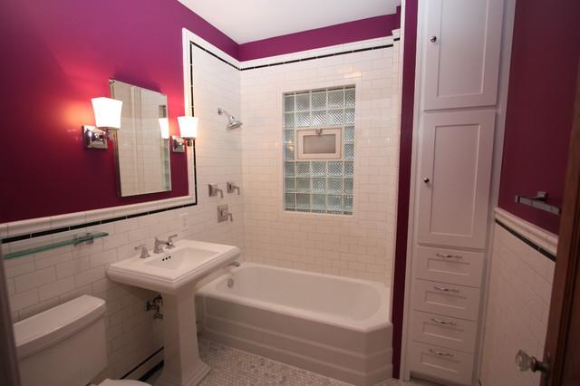 California Bathroom chicago bungalow bathroom near montrose and california - craftsman