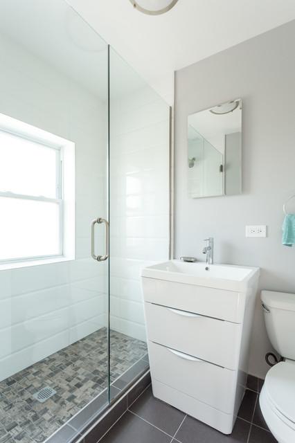 Chicago Complete Condo Remodeling Modern Bathroom