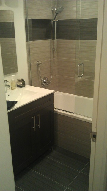 Chicago downtown bathroom renovation contemporary for Bathroom remodeling contractors chicago