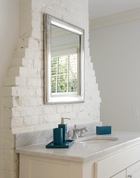 Chimney Backsplash eclectic-bathroom