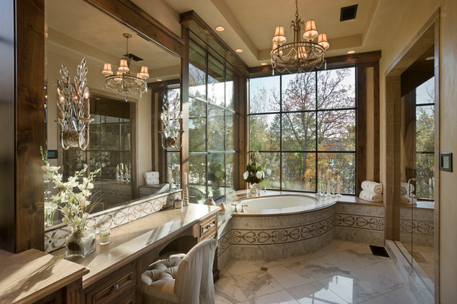 Chimney Rock Residence Rustic Bathroom