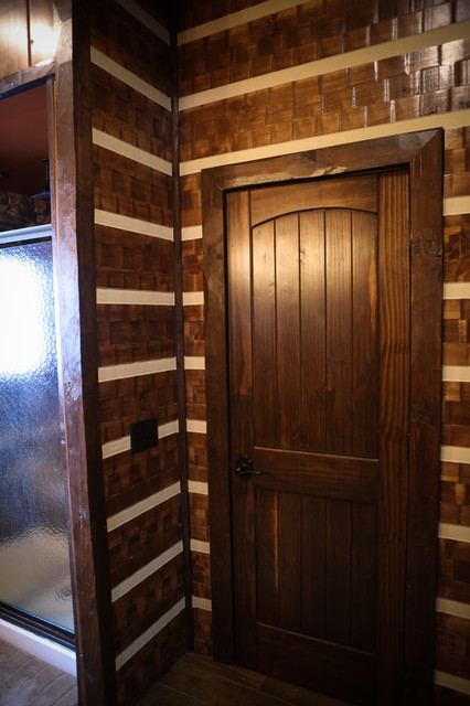 Chinking Rustic Bathroom Other By Northern Log Supply