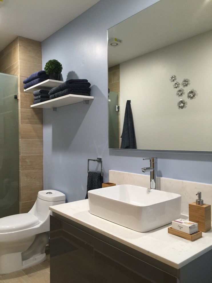 Inspiration for a transitional bathroom remodel in Mexico City
