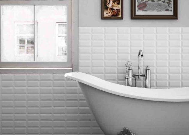 Chromatic Ceramic Tile Seriestraditional Bathroom Toronto Metro White Bevelled Subway