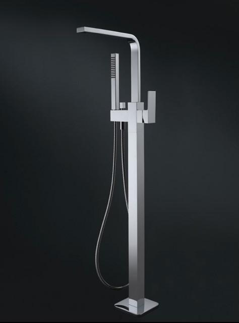 Chromed Br Freestanding Tub Filler W Shower Head Ceramic Cartridge At 02