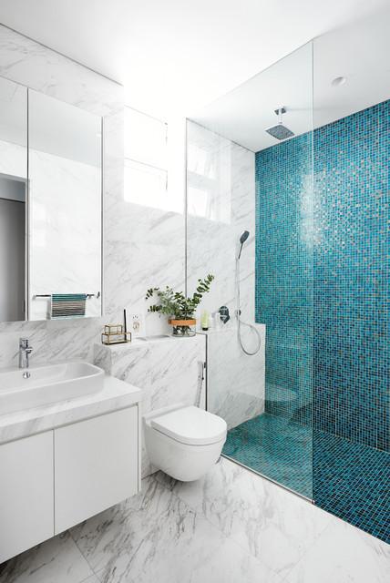 Chu Lin contemporary-bathroom