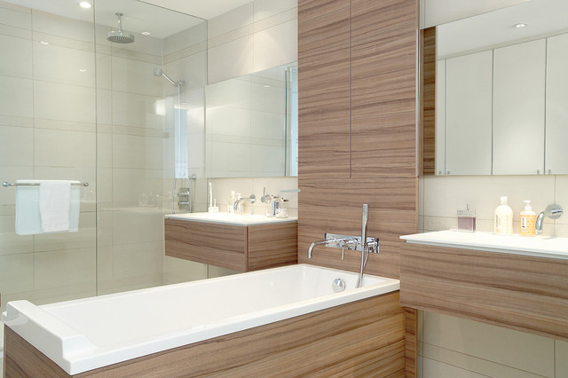 Ciccone simone design ensuite bath contemporary for Modern small ensuite