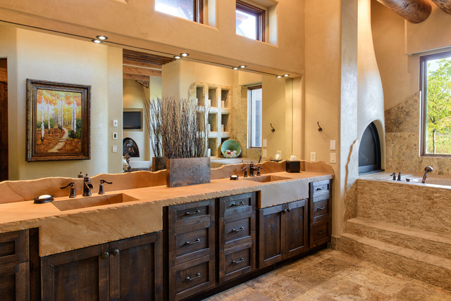Cielo azul 2009 st george parade of homes southwestern bathroom