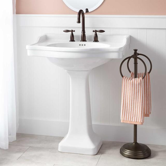 Cierra Large Pedestal Sink Contemporary Bathroom