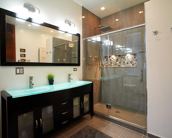 modern long narrow bathroom design ideas pictures