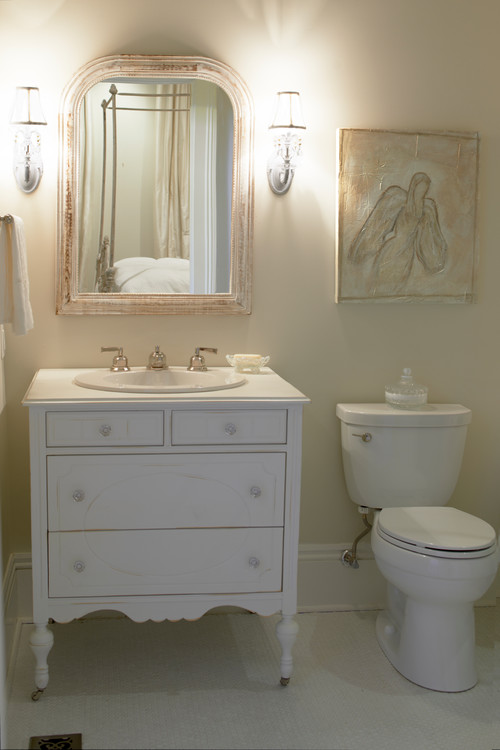 Is this vanity repurposed sconces are from