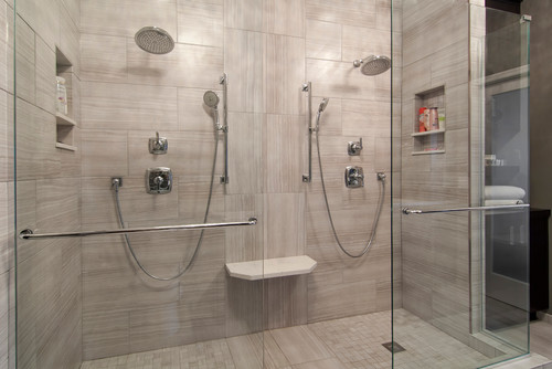 Is the shower floor tile the same as the wall tile for Shower room floor tiles