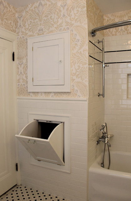Classic 1920's Black and White Bathroon - Traditional ...