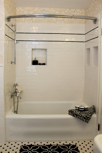 Classic 1920's Black and White Bathroon - Traditional - Bathroom - raleigh - by ISK Design ...