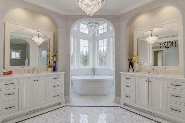 Clic Americana Rambler - Traditional - Bathroom ... on log home bathroom designs, french country bathroom designs, split level bathroom designs, farm house bathroom designs, transitional bathroom designs,