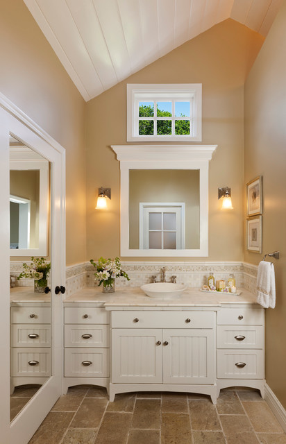 Classic bath vanity with lots of storage traditional-bathroom