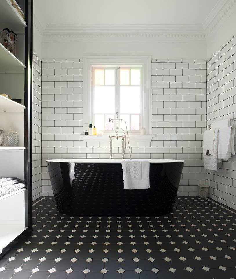 White Bath With Winckelmans Tiles