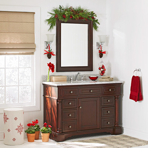 How to decorate your guest bathroom for christmas for How to decorate a guest bathroom