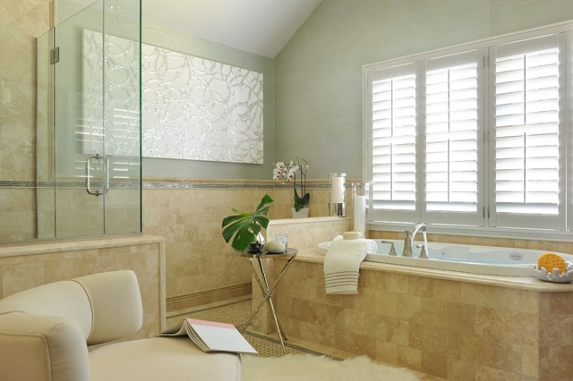 Classic contemporary spa master bath transitional for Classic master bathrooms