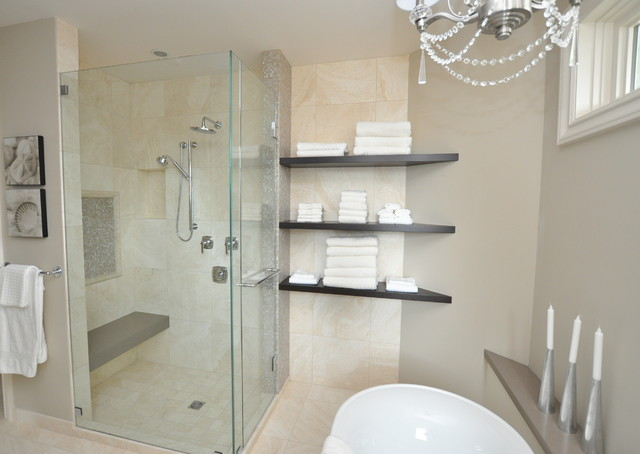 Classic Cream & Chocolate traditional-bathroom
