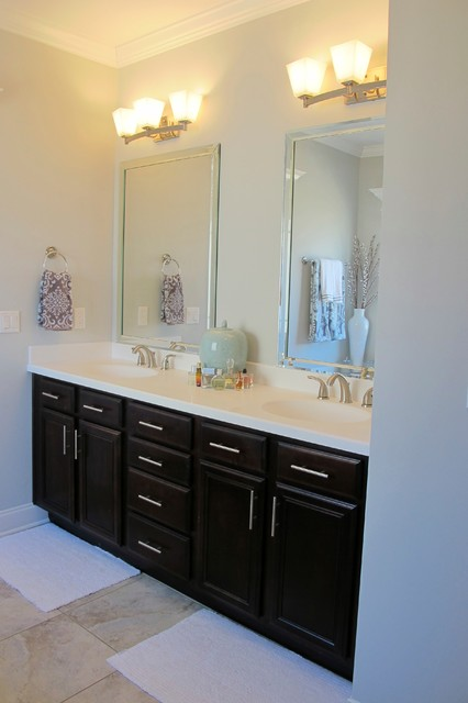 Classic Gray Master Bathroom Transitional Bathroom Atlanta By