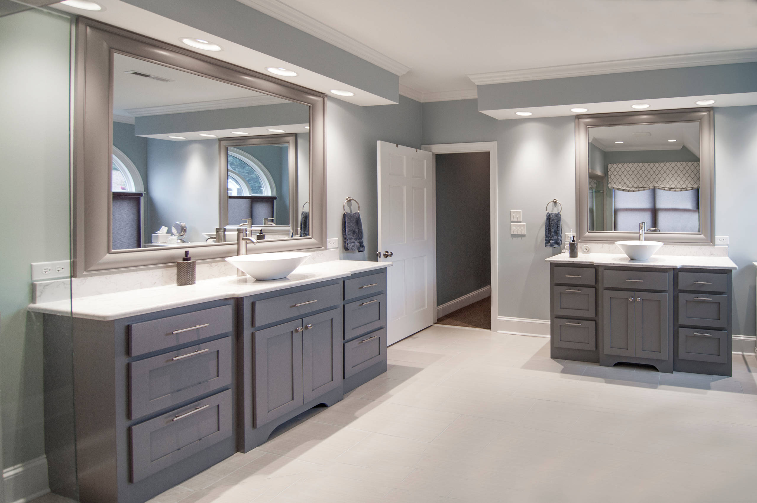 Grey Cabinets Blue Walls Houzz