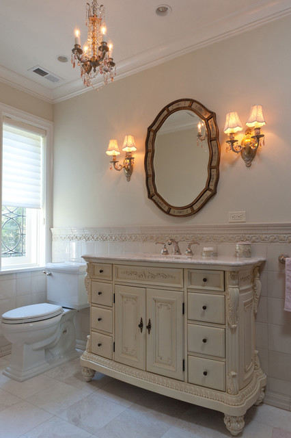 Modern Colonial Bathrooms: Classic Scarsdale Brick Colonial