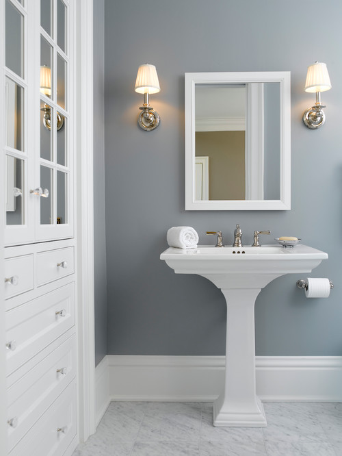 2015 favorite paint color trends the new transitionals for Bathroom finishes trends