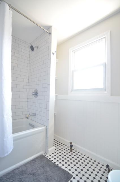 Classic subway tile in shower traditional bathroom for Bathroom tile philadelphia