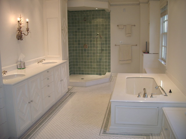 Classic tile designs traditional bathroom dc metro Classic bathroom tile ideas