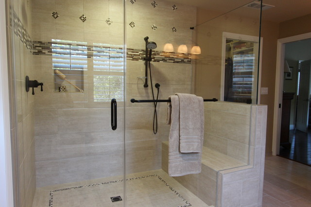 Classic warm master bath traditional bathroom san for Classic master bathrooms