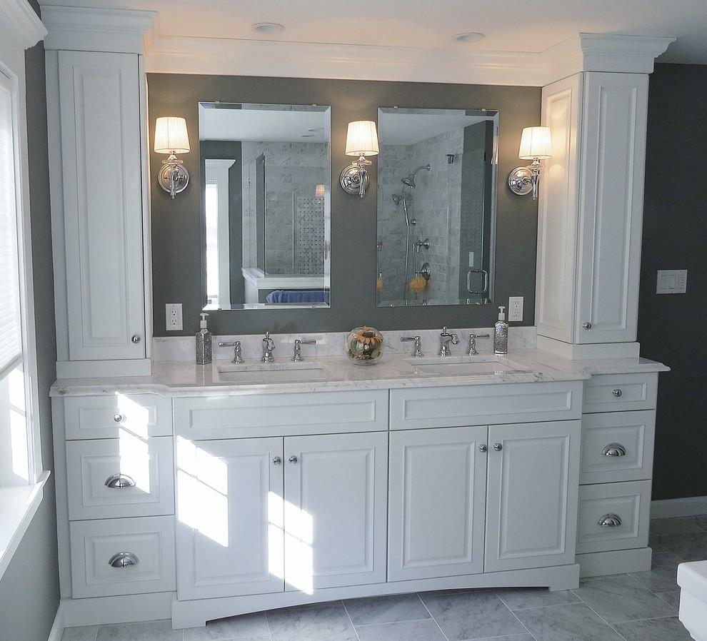 Classic West Hartford Master Bathroom - Traditional ...