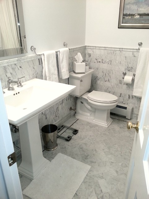 classic bathroom tiles classic white marble tile traditional bathroom dc 12337 | traditional bathroom