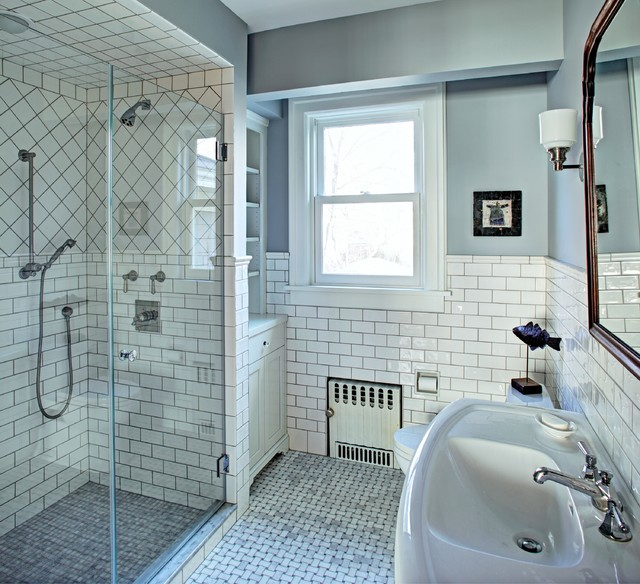 Classic white master bath traditional bathroom for Bathroom designs classic