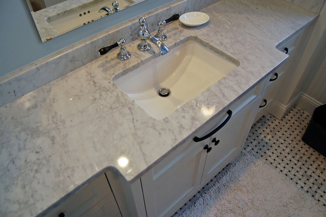 Classic White Vanity traditional bathroom