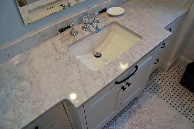 Classic White Vanity traditional-bathroom