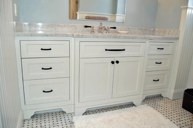 Classic white vanity traditional bathroom new york by john samuel custom cabinetry