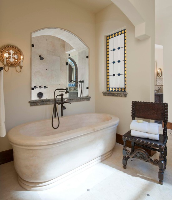 classically spanish mediterranean bathroom dallas