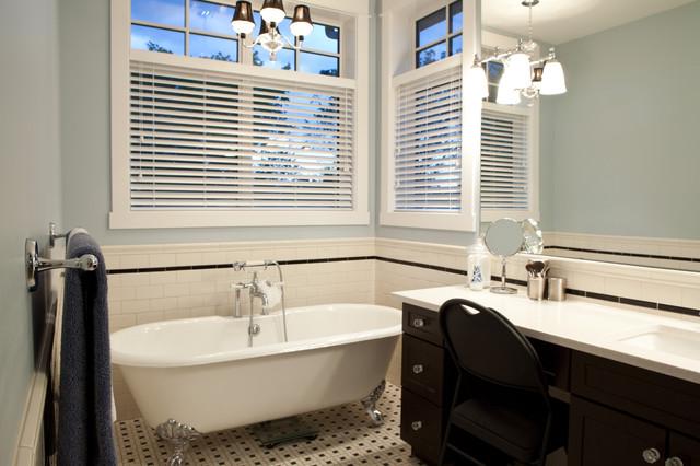 Clawfoot Tub Craftsman Bathroom