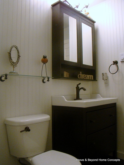 How goofy would it be to put a light on only one side of - Bathroom vanity mirror side lights ...