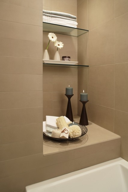 Clean and Simple contemporary-bathroom