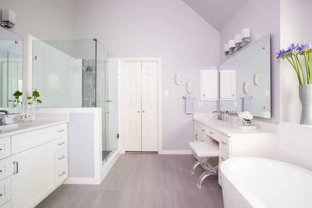 Clean White Transitional Bath Contemporary Bathroom