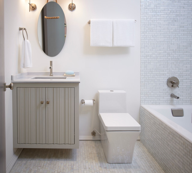 Clean Coastal Bathroom - Contemporary - Bathroom - other ...