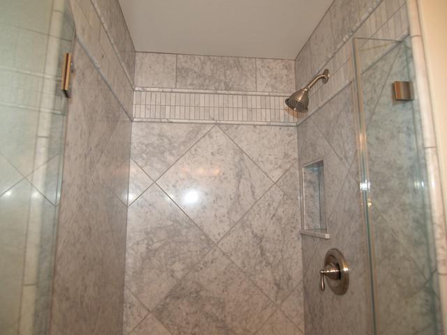 Clean crisp three piece bath traditional bathroom for 3 piece bathroom remodel