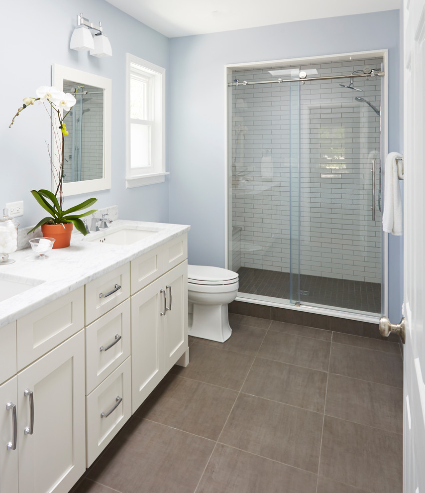 clean modern feel  modern  bathroom  chicago