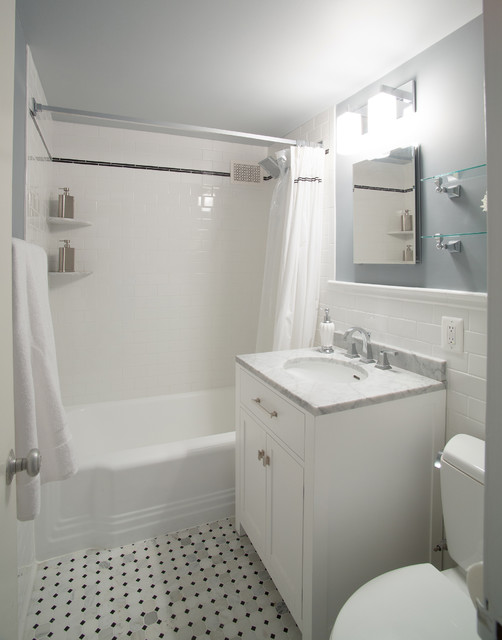 Elegant Cleveland Park Small Bathroom Remodel Traditional Bathroom