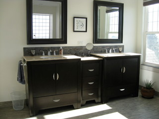contemporary bathroom by quinlan bedding and bath unique online furniture - Bathroom Vanity Backsplash Ideas