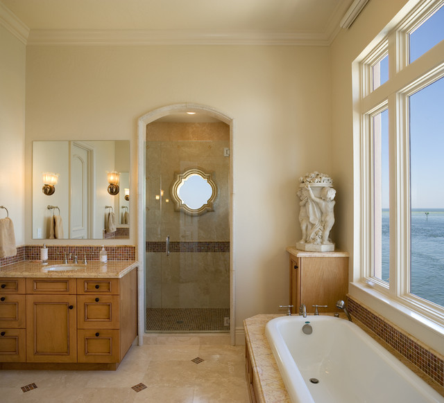 mediterranean bathroom by Clifford M. Scholz Architects Inc.