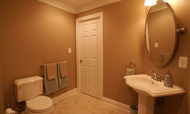 Clifton, VA Basement Finish traditional-bathroom